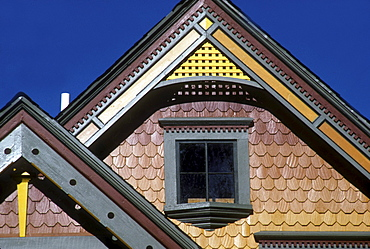 Detail of a Victorian-era home in Denver, Colorado