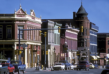 Victorian-era commercial storefronts in Leadville, Colorado