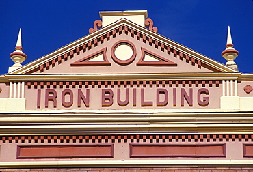 Detail of a Victorian-era building in Leadville, Colorado