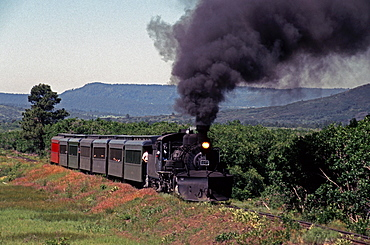 The Cumbres & Toltec Scenic Railroad travels between New Mexico and Colorado.