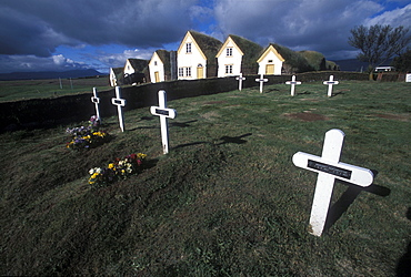 Historic turf buildings at Glaumbaer, northcentral Iceland. An important discovery was made in Glaumbaer in 2001: the homestead of Thorfinn Karlsefni, the father of the first European born in the New World. This find has important implications for Viking history.