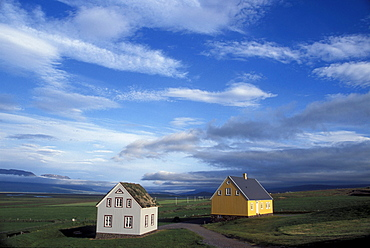 Historic buildings at Glaumbaer, northcentral Iceland. An important discovery was made in Glaumbaer in 2001: the homestead of Thorfinn Karlsefni, the father of the first European born in the New World. This find has important implications for Viking history.