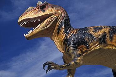A fake dinosaur in Grand Junction, Colorado