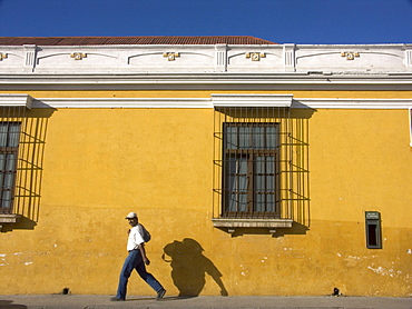 The color and the architectural colonial style seen in the city of Antigua, in the Departmento (State) of Sacatepequez in the country of Guatemala, December 27, 2004
