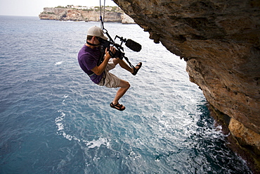 Josh Lowell hanging on The Arch and filming for Big Up Productions in Mallorca, Spain.
