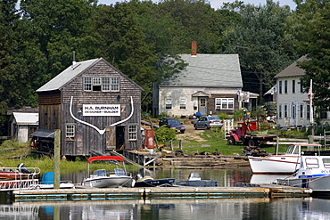 Essex Shipyard, once recognized world wide as North America's center for fishing schooner construction, Massachusetts.
