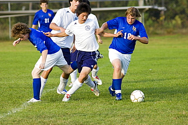 Fryeburg Academy Boys Varsity soccer team vs. Lake Region 2006, Fryeburg, Maine.