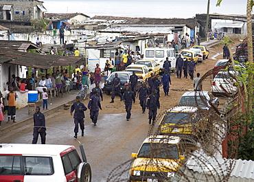 Liberian Police and UN on Patrol in Monrovia