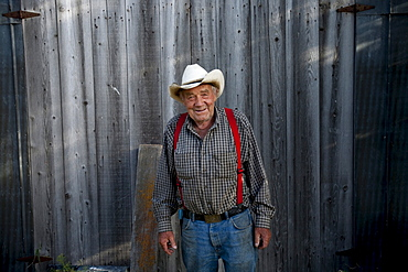 A rancher on his land in Southern Oregon.
