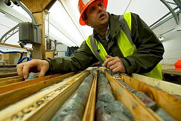 Core samples,Pebble mine site, Illiamna, Alaska