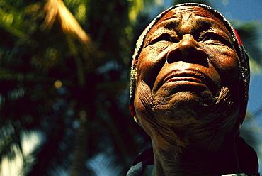 A portrait of a Mozambican woman, Inhambane, Mozambique.
