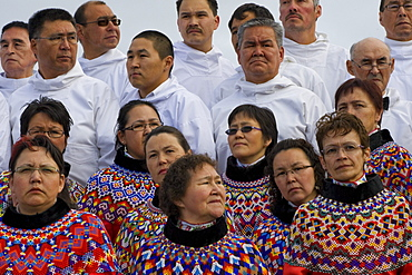 Choir Members during the events on June 21, the National Day in Greenland, in Nuuk, Greenland.