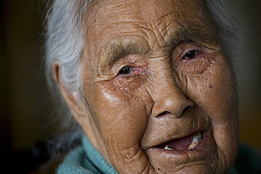 Rosine Semsen, 86, the oldest person in Nanortalik, Greenland.