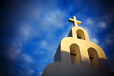 View of a church in Playa del Carmen, Mexico.