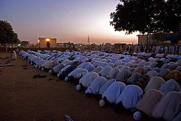 Every Friday dervishes gather an hour before sunset in front of Sheikh Hamed al-Nil tomb in Omdurman, Sudan to perform a ritual called Zikr (Dhikr). The ceremony starts chanting words of gratitude to the Prophet Mohammed. The audience interacts with the chanters, dancing to the rhythms of the percussion instruments. The dervishes start whirling around. The music, the fragrance of burning incense, the endless repetition of religious chants creates a state of ecstasy, a kind of trance in which human soul is believed to communicate directly with God.