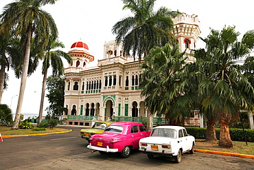 The Palacio del Valle is the most famous building in Cienfuegos, Cuba. The three distinct towers we built to be symbolic of Strength, Faith and Love. Its Mogul Architectural style is further made impressive by the countless ornate carvings in Venetian alabaster.