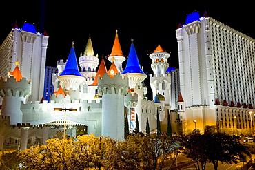 Excalibur Hotel and Casino along Las Vegas Boulevard, or the Strip, in Las Vegas, Nevada.