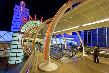 The entrance to Balleys Hotel and Casino along Las Vegas Boulevard, or the Strip, in Las Vegas, Nevada.