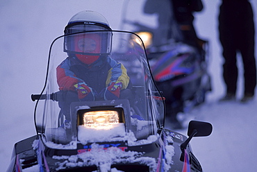 Miscellaneous scenes during snowmobile tours in Yellowstone.