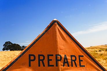 A 'prepare' sign.