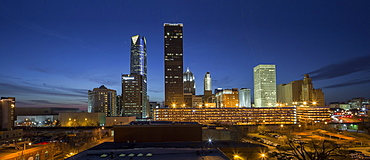 A seen of Oklahoma city skyline.