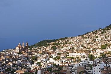 Panoramic view of Taxco de Alarcon in guerrero, Mexico.