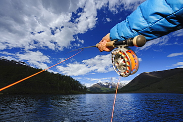 Fly fishing Patagonia, Argentina,