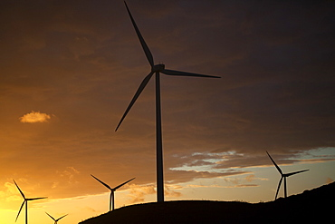 Wind turbines in Paterna de Rivera, Cadiz province, Andalusia, Spain