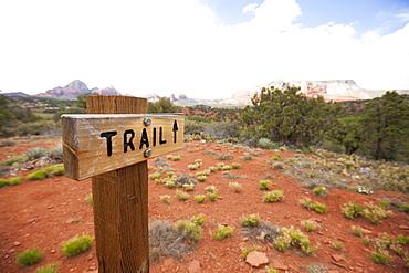 trail sign, sedona, arizona
