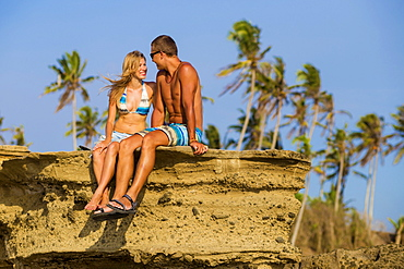 Couple on the beach in Bali. Indonesia