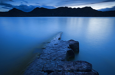 A long exposure along the shore of Lago Nordenskjöld in Chile's Torres del Paine.