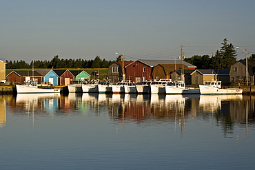 Fishing and oyster boats, Malpeque Harbour, PEI, Canada