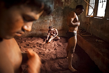 "Kushti is a traditional form of South Asian wrestling popular in India, also known as Pehlwani. Wrestlers usually meet in an Akhara, a ""wrestling ground"" which is a place of practice, with facilities for boarding, lodging and training.They serve both as training schools and an arena for wrestlers to compete against each other. Akhara is not limited only to physical activities, but also involves religious practices, particularly the worship of the god Hanuman."