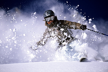 Ingrid Backstrom skiing in the Wasatch Mountains, Utah, United States of America