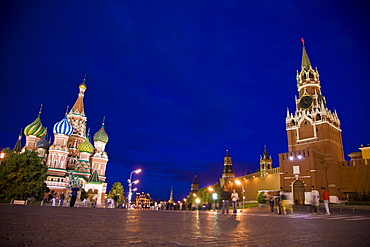 Night falls on Red Square, Russia