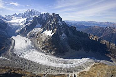 Mer de Glace glacier in the summer, France