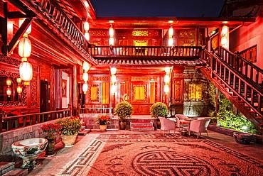 Hostel at Night (Lijiang)