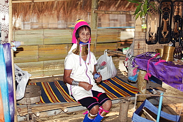 Myanmar-Thailand border is located near Mae Hong Long Neck Karen women living in the last