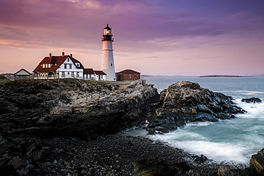 Cape Elizabeth in Maine is the home to the Portland Head Light lighthouse.