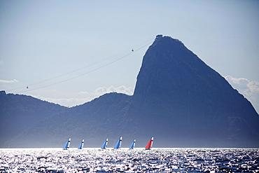 Rio de Janeiro Olympic Test Event - Fédération Française de Voile. 2015 Aquece Nacra 17 Besson, Riou.