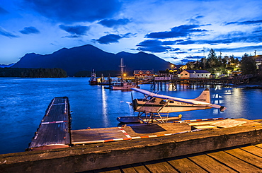 Dawn in Tofino and the downtown waterfront.