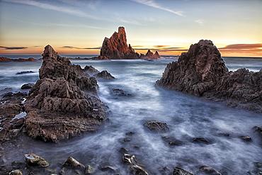 Cabo de Gata, Reef of the Mermaids, Cabo de Gata-Nijar Arrecife de las Sirenas, Biosphere Reserve, Almeria province, Andalucia, Murcia, Spain.
