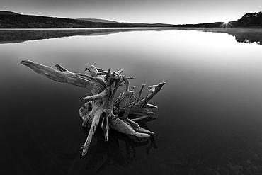 Sunset. Reservoir of La Cuerda del Pozo in Abejar, Soria, Spain