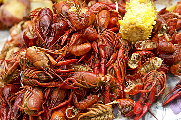 A crawfish boil in New Orleans is a spring time tradition that is greatly anticipated each year