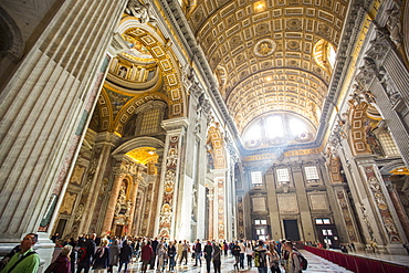 Sunlight Streams Into A Cathedral At The Vatican, Rome, Italy - 857-93195