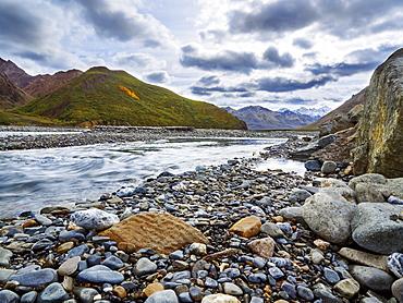 View Of A River At Denali National Park, Alaska