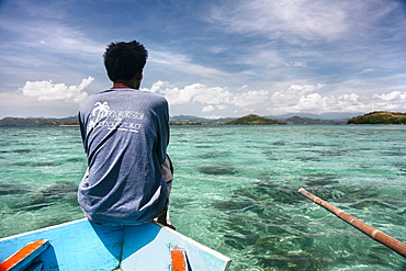 Traveling On The Boat On Caramoan Islands, Philippines