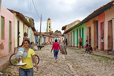 People Walking In The Streets Of Trinidad, Cuba