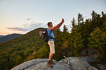 A Man Taking Selfie While Hiking Along The Appalachian Trail