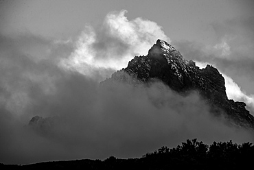 Mount Kenya Rises From The Clouds